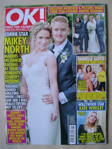 <!--2016-02-16-->OK! magazine - Mikey North and Rachael cover (16 February