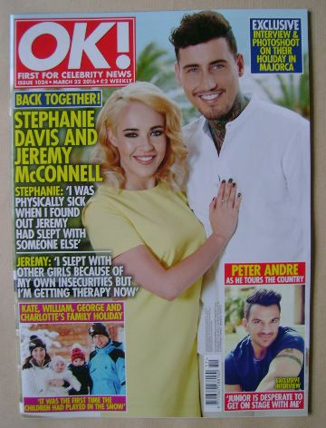 <!--2016-03-22-->OK! magazine - Stephanie Davis and Jeremy McConnell cover