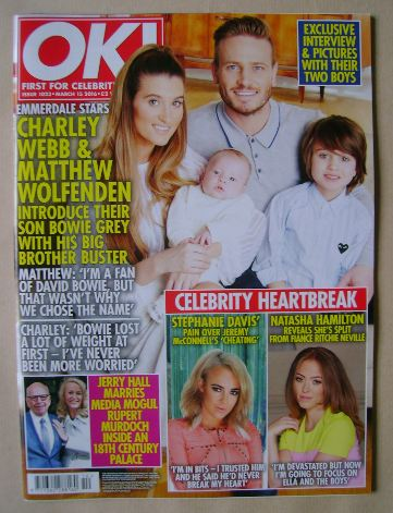 <!--2016-03-15-->OK! magazine - Charley Webb, Matthew Wolfenden and Family