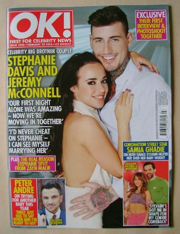 <!--2016-02-23-->OK! magazine - Stephanie Davis and Jeremy McConnell cover