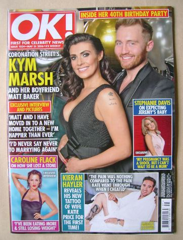 <!--2016-05-31-->OK! magazine - Kym Marsh and Matt Baker cover (31 May 2016