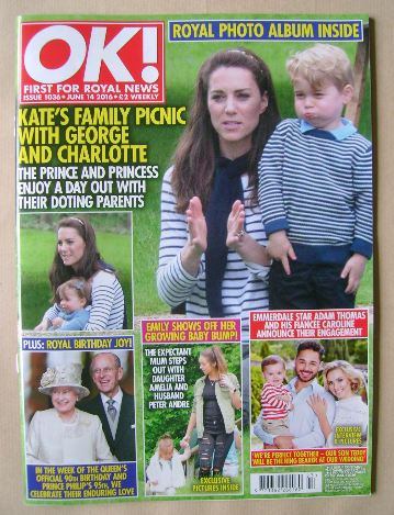 <!--2016-06-14-->OK! magazine - Kate Middleton and Prince George cover (14