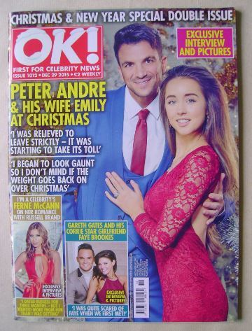 <!--2015-12-29-->OK! magazine - Peter Andre and Emily cover (29 December 20