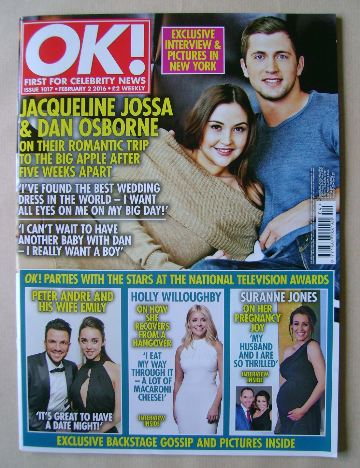 <!--2016-02-02-->OK! magazine - Jacqueline Jossa and Dan Osborne cover (2 F