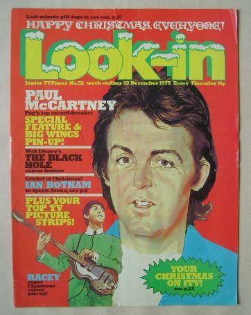 <!--1979-12-22-->Look In magazine - Paul McCartney cover (22 December 1979)