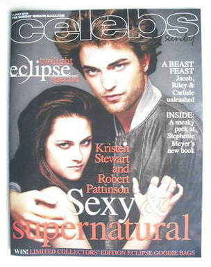 <!--2010-07-11-->Celebs magazine - Robert Pattinson and Kristen Stewart cov