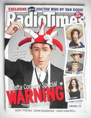 <!--2010-06-05-->Radio Times magazine - Rob Brydon cover (5-11 June 2010)