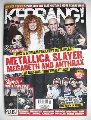 <!--2010-07-03-->Kerrang magazine - Metallica, Slayer, Megadeth and Anthrax