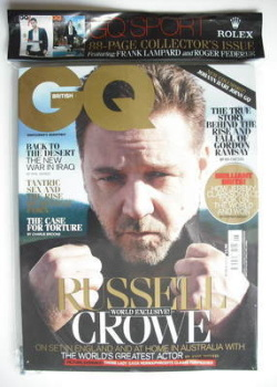 British GQ magazine - June 2010 - Russell Crowe cover
