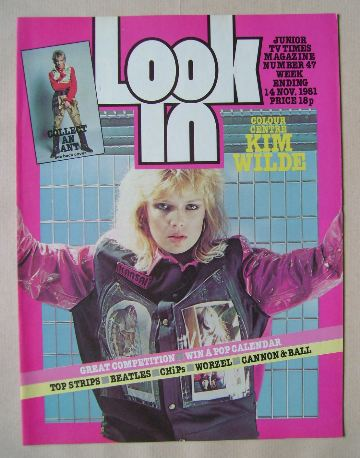 <!--1981-11-14-->Look In magazine - Kim Wilde cover (14 November 1981)