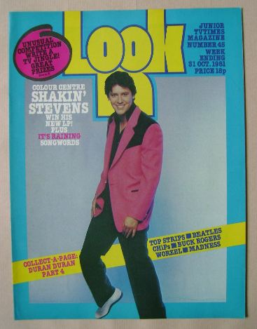 <!--1981-10-31-->Look In magazine - Shakin' Stevens cover (31 October 1981)