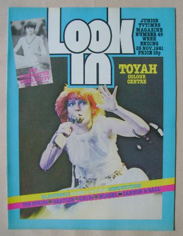 <!--1981-11-28-->Look In magazine - Toyah Willcox cover (28 November 1981)