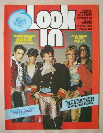 <!--1981-10-17-->Look In magazine - Adam And The Ants cover (17 October 198