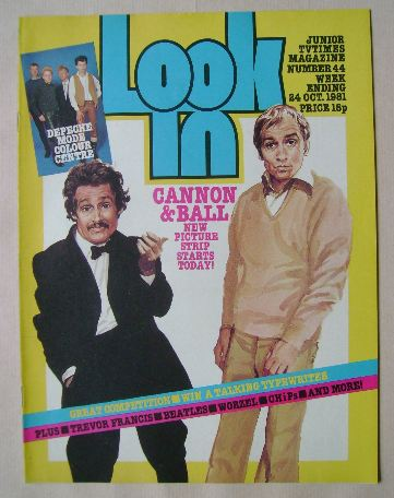 <!--1981-10-24-->Look In magazine - Cannon & Ball cover (24 October 1981)