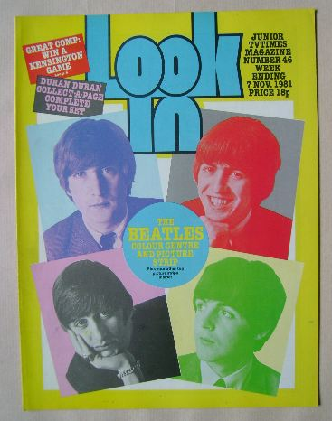 <!--1981-11-07-->Look In magazine - The Beatles cover (7 November 1981)