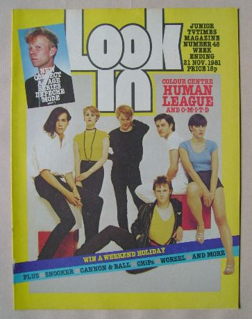 <!--1981-11-21-->Look In magazine - Human League cover (21 November 1981)