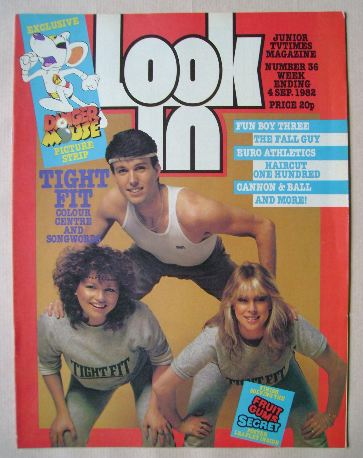 <!--1982-09-04-->Look In magazine - Tight Fit cover (4 September 1982)