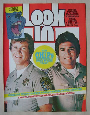 <!--1981-12-05-->Look In magazine - Larry Wilcox and Erik Estrada cover (5