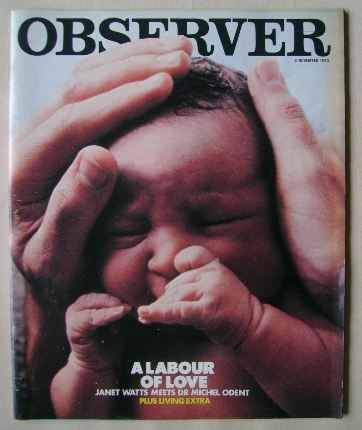 <!--1983-11-06-->The Observer magazine - A Labour Of Love cover (6 November