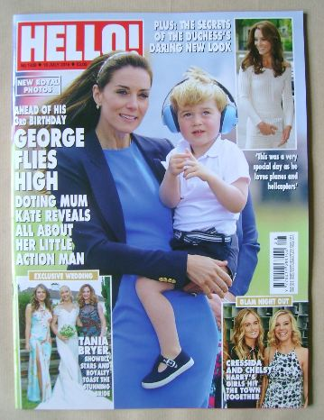 <!--2016-07-18-->Hello! magazine - Kate Middleton and Prince George cover (