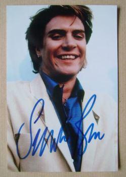 Simon Le Bon autograph