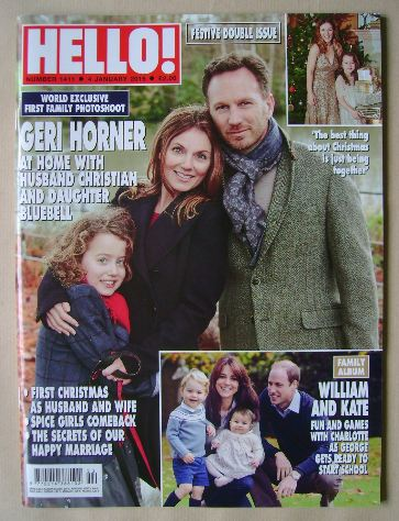<!--2016-01-04-->Hello! magazine - Geri Horner, husband Christian and daugh