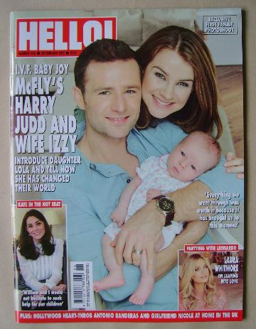 <!--2016-02-29-->Hello! magazine - Harry Judd, wife Izzy and daughter Lola