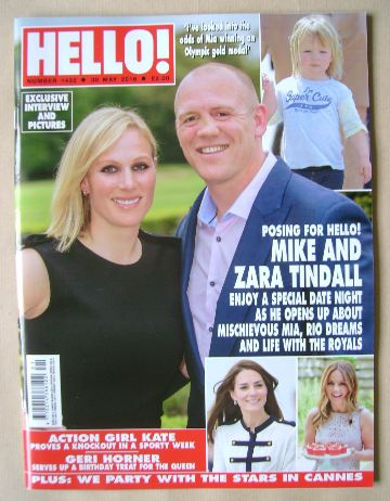 <!--2016-05-30-->Hello! magazine - Mike and Zara Tindall cover (30 May 2016