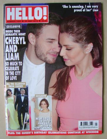 <!--2016-05-23-->Hello! magazine - Cheryl Cole and Liam Payne cover (23 May