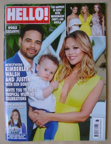 <!--2016-02-08-->Hello! magazine - Kimberley Walsh, Justin Scott and son Bo