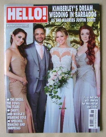 <!--2016-02-15-->Hello! magazine - Kimberley Walsh, Justin Scott, Cheryl Fe