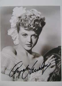 Angela Lansbury autograph (hand-signed photograph)