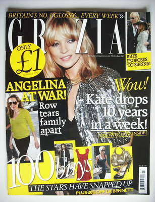 <!--2007-10-29-->Grazia magazine - Kate Moss cover (29 October 2007)