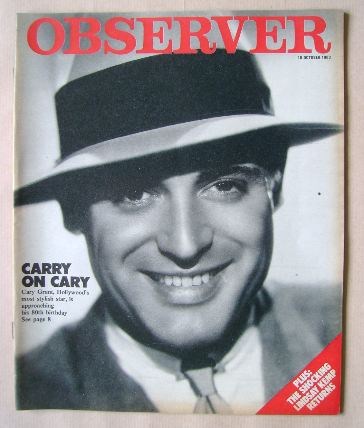 <!--1983-10-16-->The Observer magazine - Cary Grant cover (16 October 1983)