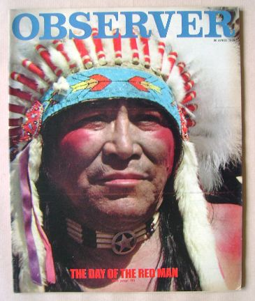 <!--1980-04-20-->The Observer magazine - The Day Of The Red Man cover (20 A