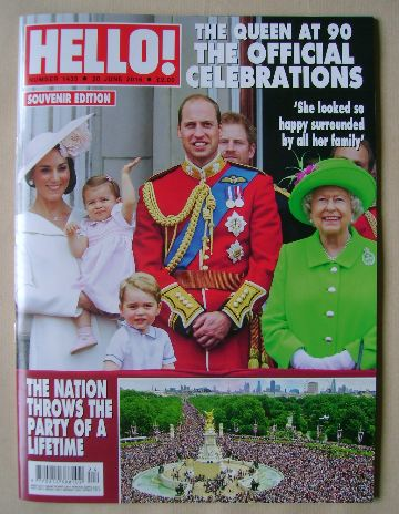 <!--2016-06-20-->Hello! magazine - The Queen at 90 cover (20 June 2016 - Is