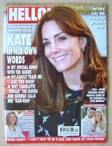 <!--2016-03-28-->Hello! magazine - Kate Middleton cover (28 March 2016 - Is