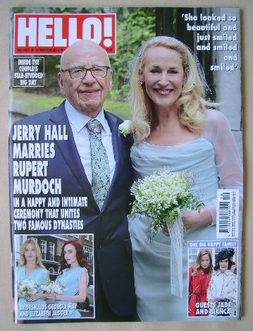 <!--2016-03-14-->Hello! magazine - Rupert Murdoch and Jerry Hall cover (14