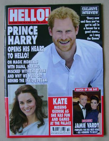 <!--2016-05-16-->Hello! magazine - Prince Harry cover (16 May 2016 - Issue