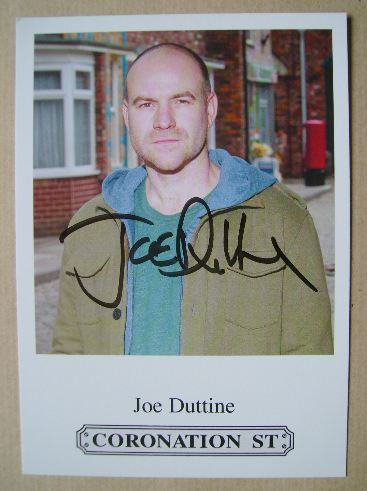 Joe Duttine autograph (hand-signed Coronation Street cast card)