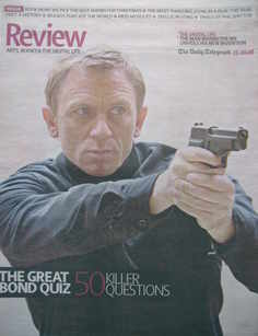 The Daily Telegraph Review newspaper supplement - 25 October 2008 - Daniel