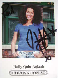 Holly Quin-Ankrah autograph (Coronation Street actor)