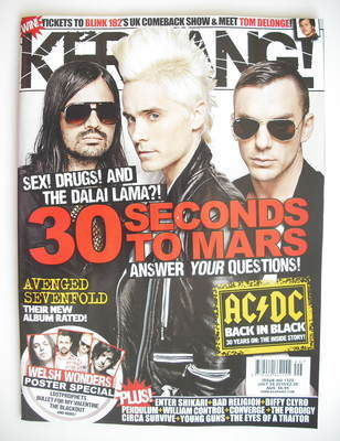 <!--2010-07-24-->Kerrang magazine - 30 Seconds To Mars cover (24 July 2010