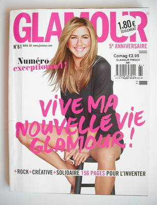 <!--2009-04-->Glamour magazine - Jennifer Aniston cover (April 2009 - Frenc