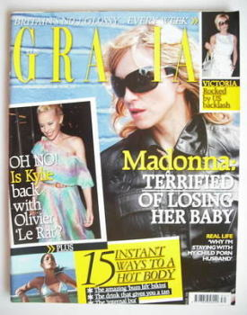 Grazia magazine - Madonna cover (30 July 2007)
