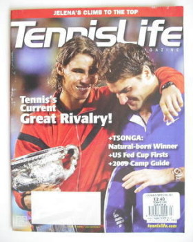 Tennis Life magazine - Roger Federer and Rafael Nadal cover (March/April 2009)