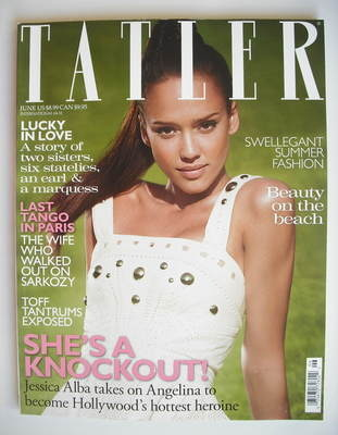 <!--2010-06-->Tatler magazine - June 2010 - Jessica Alba cover