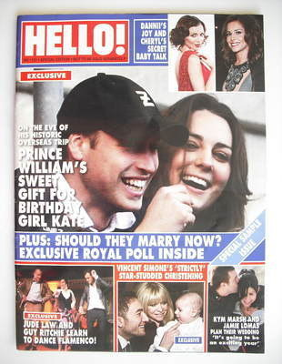 <!--2010-01-25-->Hello! magazine - Prince William and Kate Middleton cover