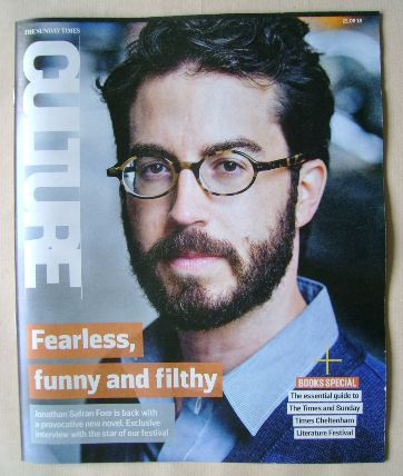 <!--2016-08-21-->Culture magazine - Jonathan Safran Foer cover (21 August 2