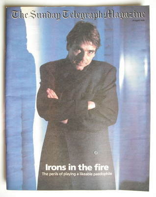 The Sunday Telegraph magazine - Jeremy Irons cover (19 April 1998)